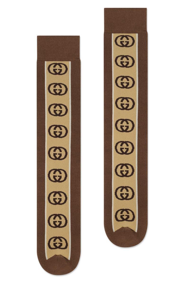 GUCCI GG Stripe Socks, Main, color, 200