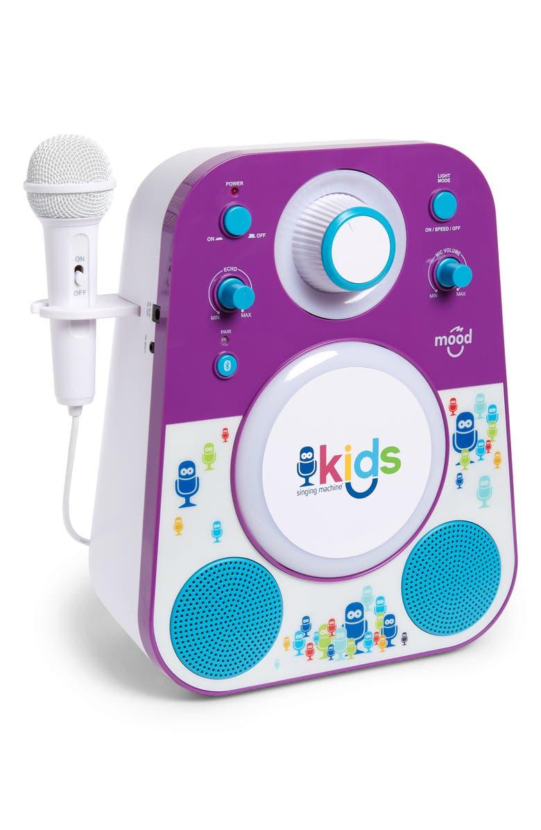 SINGING MACHINE Kids Mood Karaoke System, Main, color, PURPLE BLUE