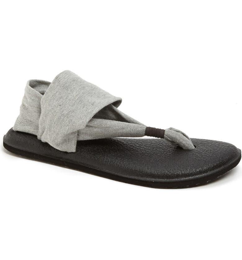SANUK 'Yoga Sling 2' Sandal, Main, color, GREY