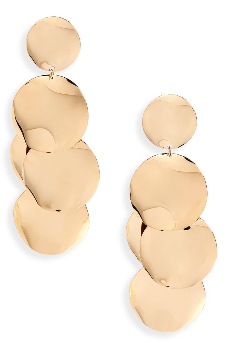 ISABEL MARANT Petals Drop Earrings, Main, color, DORE