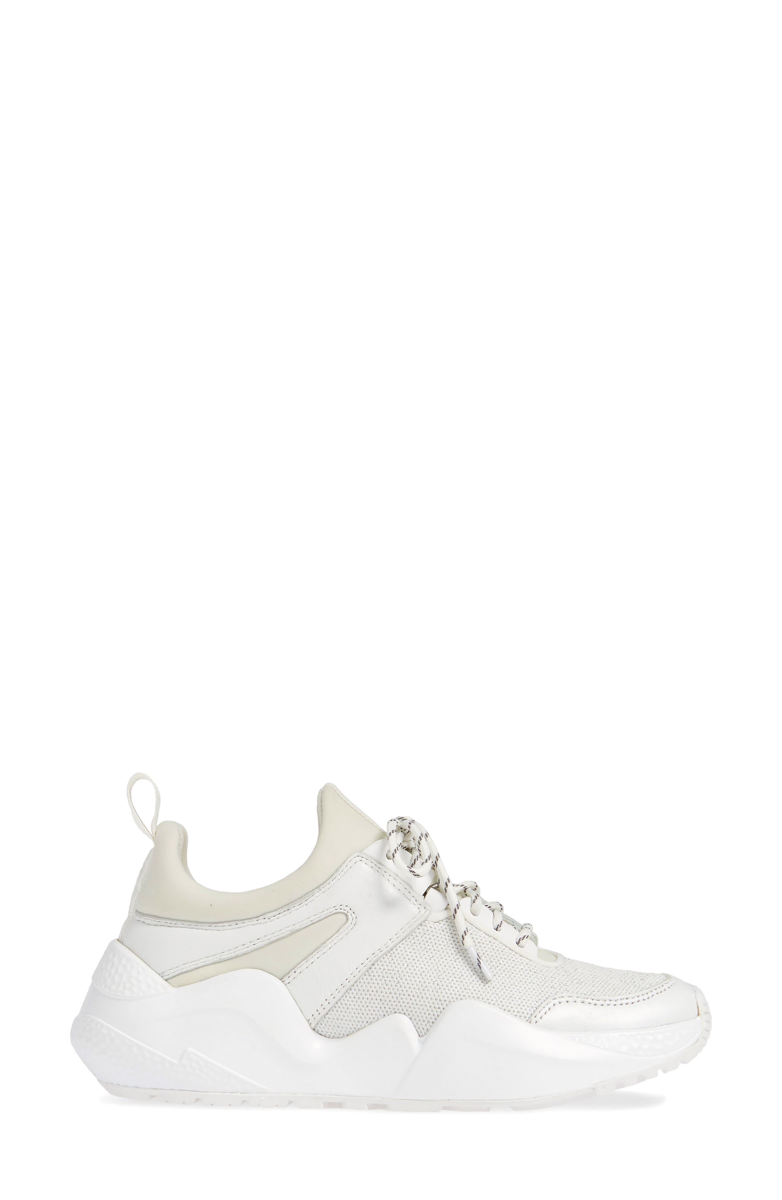 ,                             Maddox Sneaker,                             Alternate thumbnail 3, color,                             WHITE KNIT