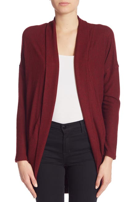 Image of Socialite Cocoon Waffle Knit Long Sleeve Cardigan