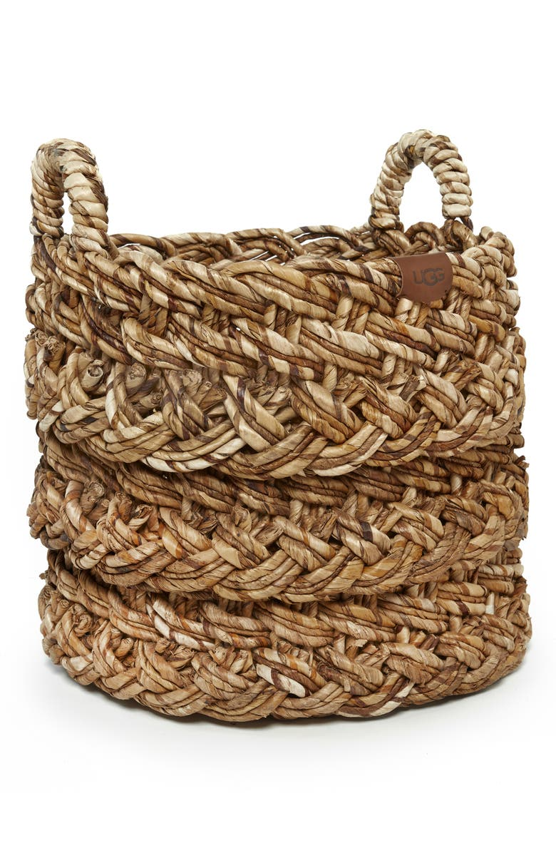 UGG<SUP>®</SUP> Peppermint Grove Round Basket, Main, color, NATURAL