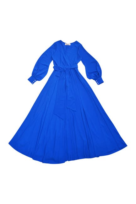 Image of Meghan LA Lilypad Balloon Sleeve Maxi Dress