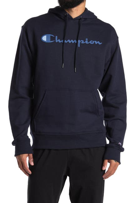 Image of Champion Powerblend Graphic Drawstring Hoodie