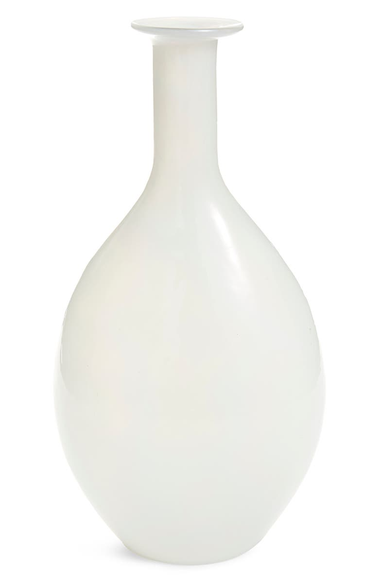 NORDSTROM at Home Tall Opal Milky Glass Vase, Main, color, White