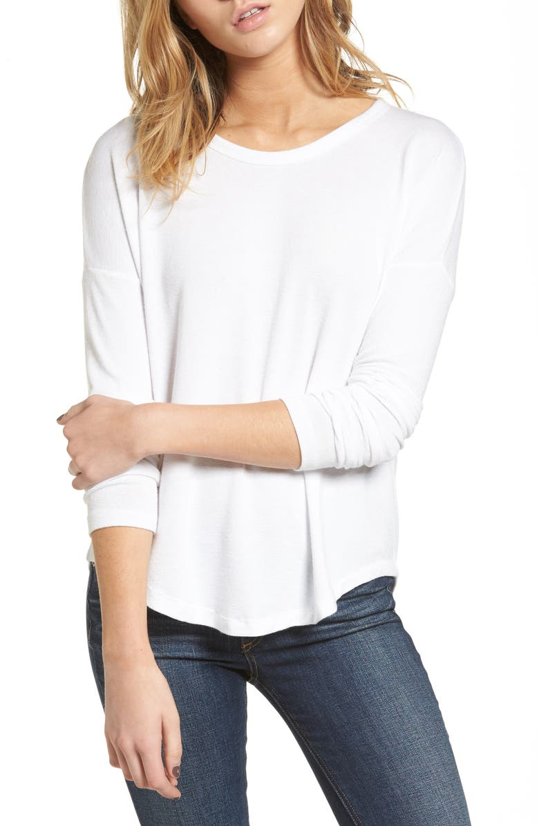 RAG & BONE Hudson Long Sleeve Tee, Main, color, WHITE