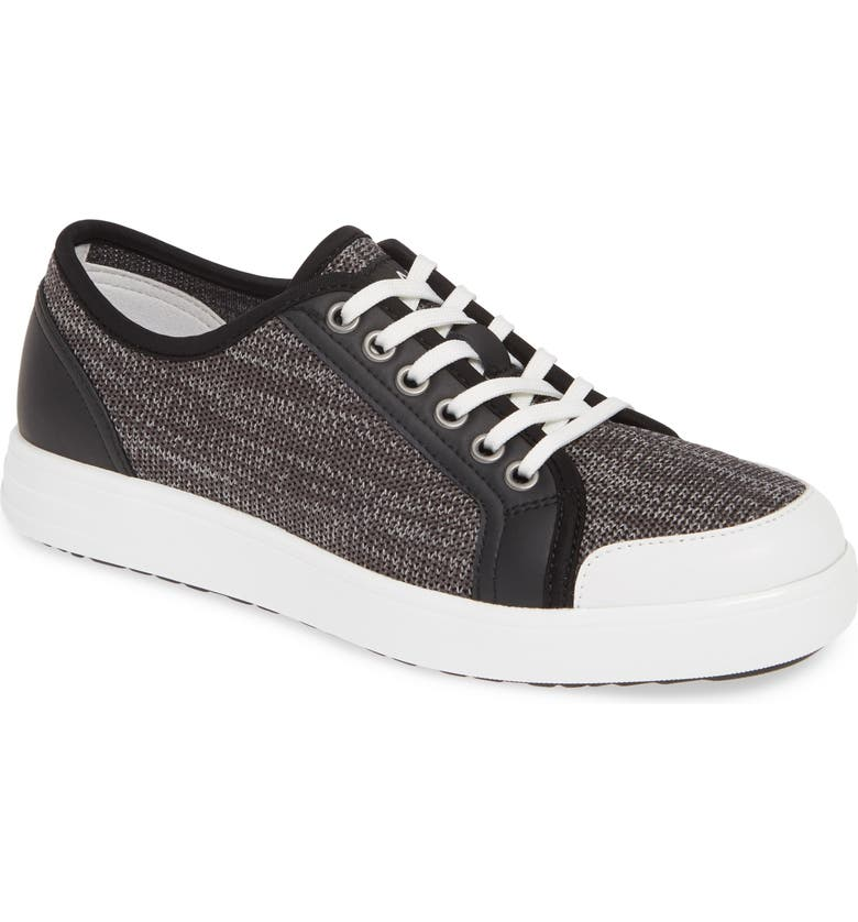 ALEGRIA Sneaq Sneaker, Main, color, WASHED BLACK LEATHER