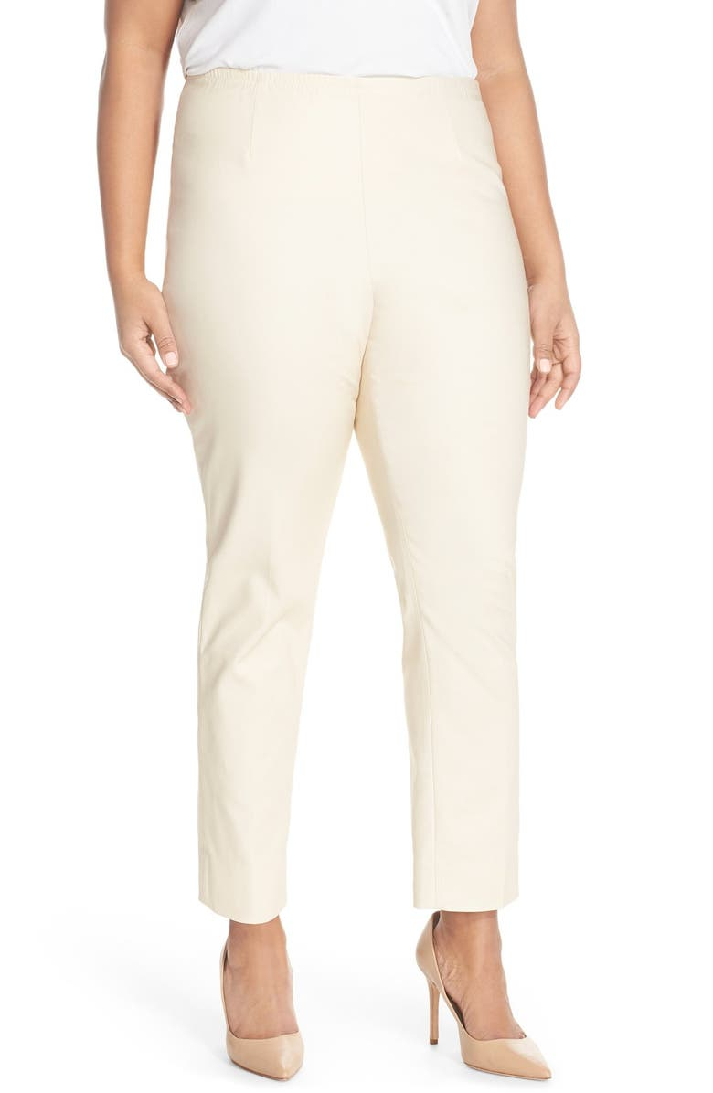 NIC+ZOE 'Perfect' High Rise Side Zip Pants, Main, color, SANDSHELL
