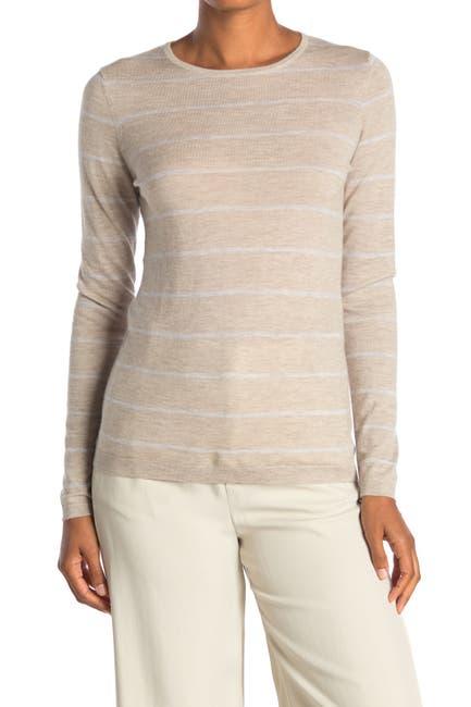Image of Kinross Stripe Print Cashmere Crew Neck Sweater