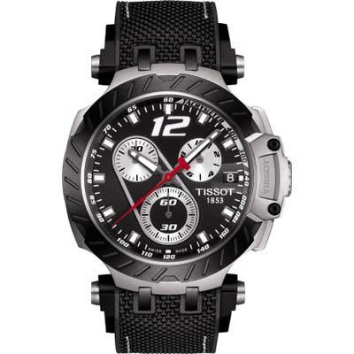 Tissot T-Race Jorge Lorenzo Leather Strap Watch, 4m