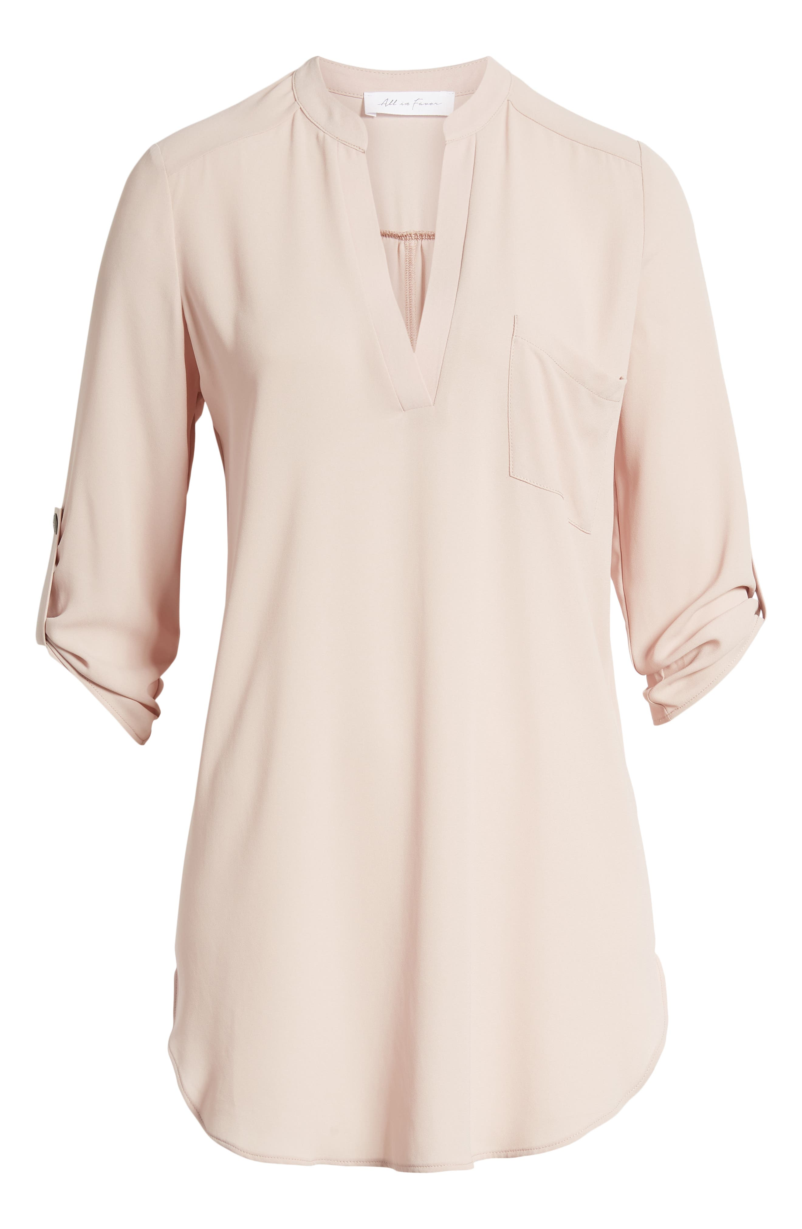 ,                             Perfect Roll Tab Sleeve Tunic,                             Alternate thumbnail 17, color,                             658