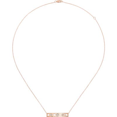 Dinh Van 18K Gold Diamond Bar Necklace