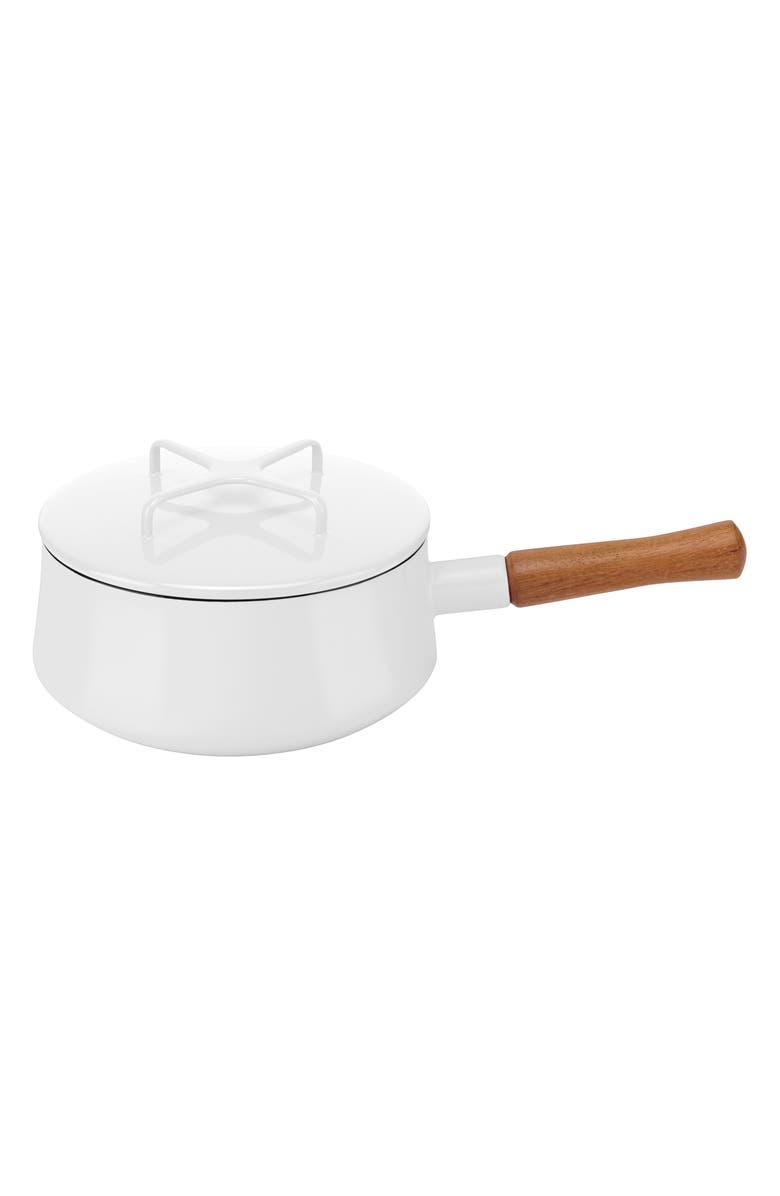 DANSK Kobenstyle 2-Quart Saucepan with Lid, Main, color, WHITE