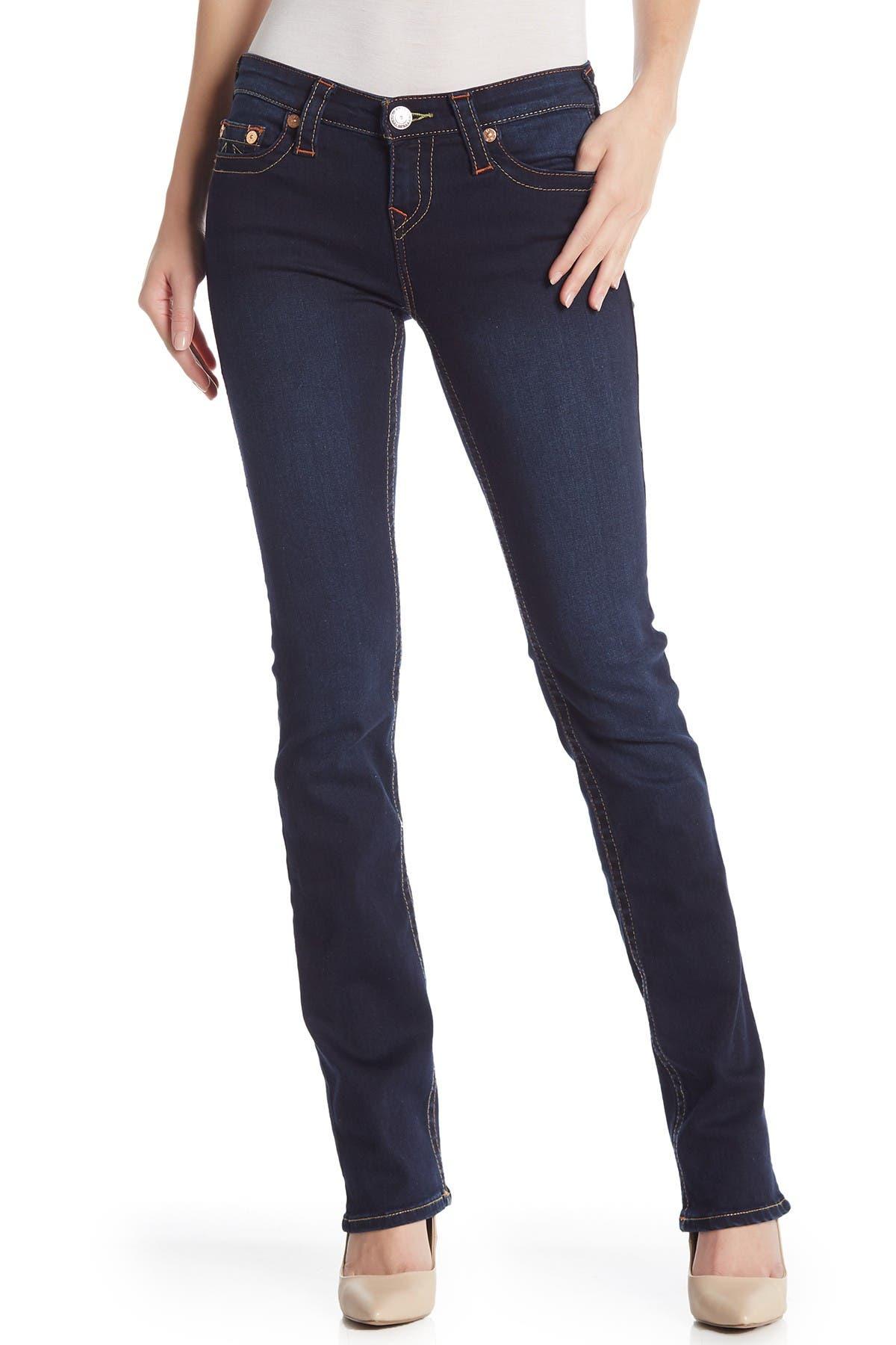 Image of True Religion Bille Mid Rise Straight Leg Jeans