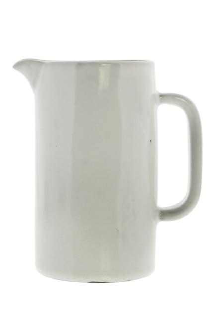 Image of HOMART Liam Small Ceramic Pitcher - White Glaze
