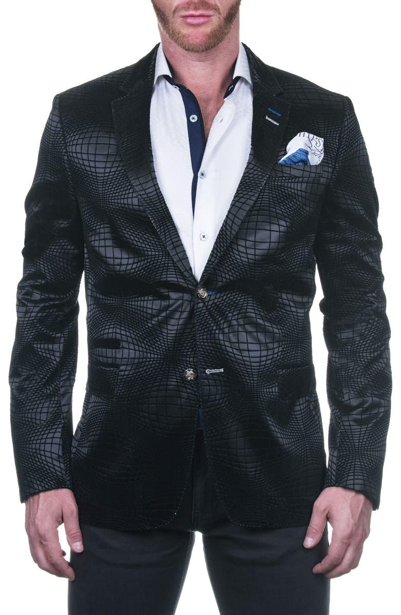 MACEOO Socrate Ovalblack Shaped Fit Sport Coat, Main, color, 007