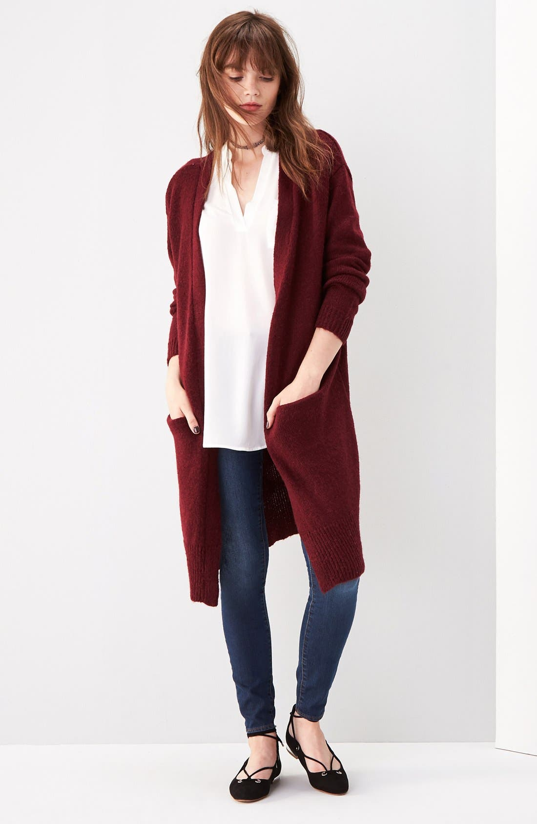 ,                             Perfect Roll Tab Sleeve Tunic,                             Alternate thumbnail 410, color,                             900