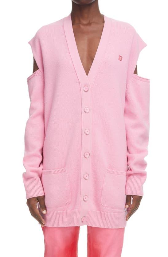 Givenchy Cardigans 7GG LOGO JACQUARD CUTOUT CARDIGAN