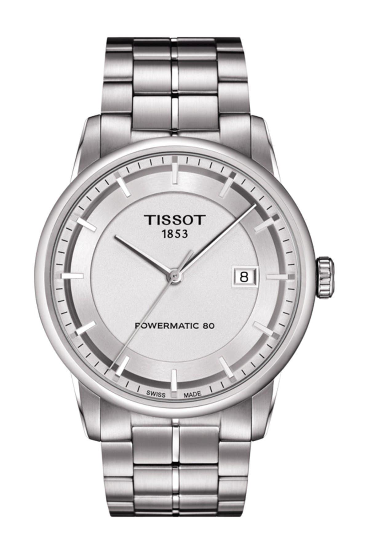 Image of Tissot Men's Luxury Powermatic 80 Hour Bracelet Watch, 41mm