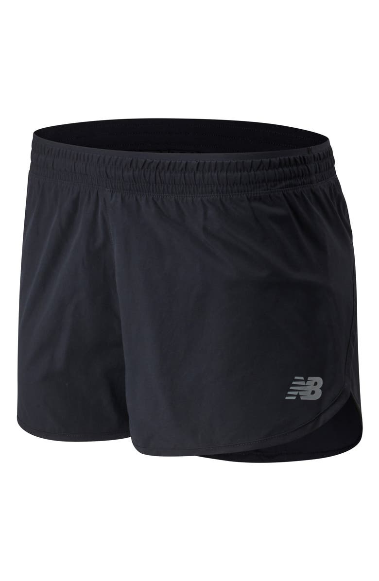 NEW BALANCE Accelerate Running Shorts, Main, color, BLACK
