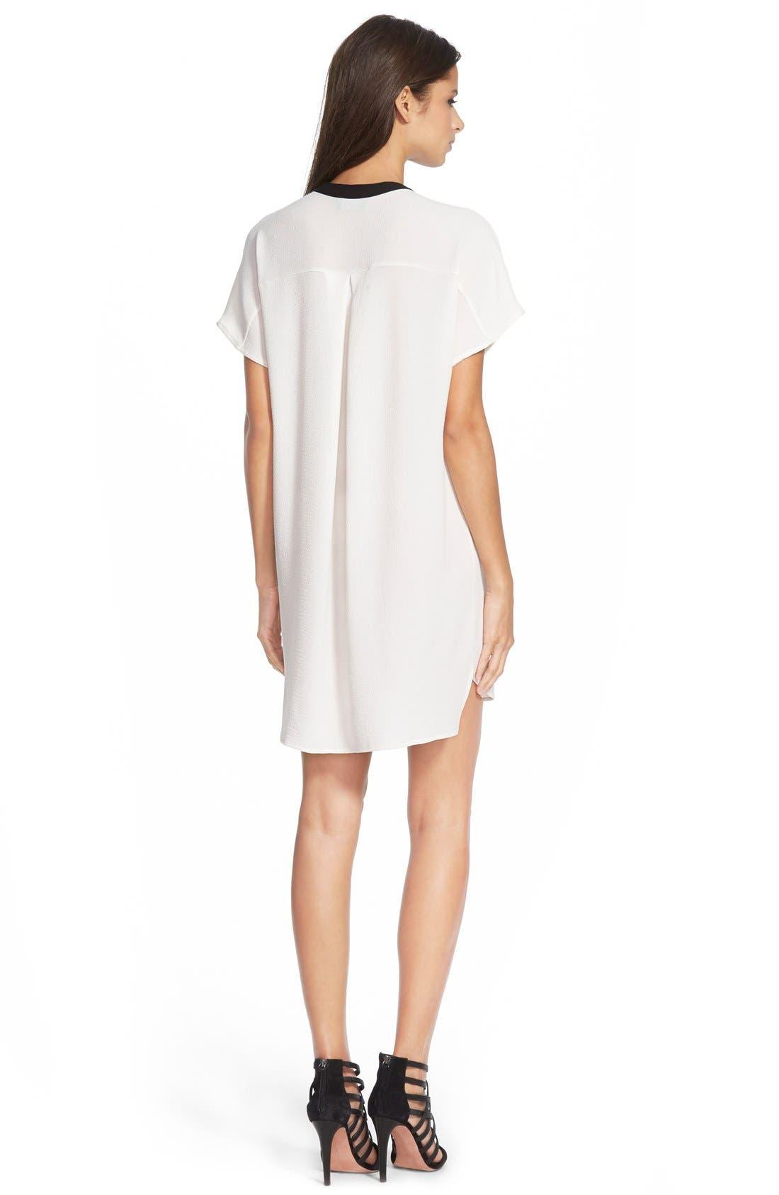 ,                             ASTR V-Neck Crepe Shift Dress,                             Alternate thumbnail 18, color,                             900