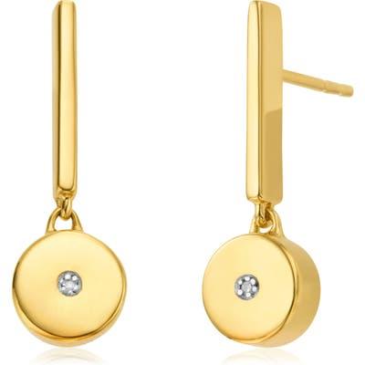 Monica Vinader Linear Solo Diamond Drop Earrings