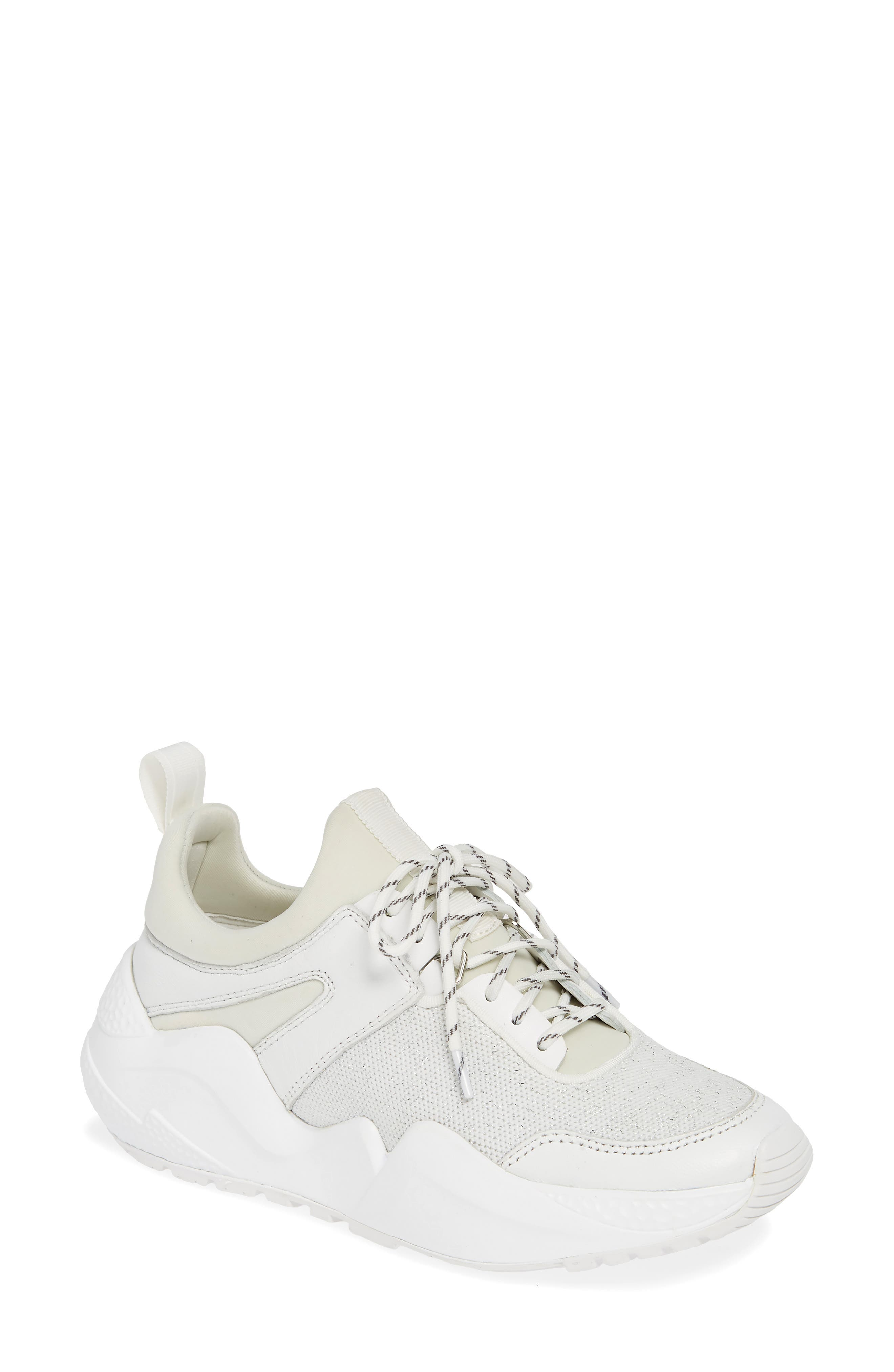Maddox Sneaker, Main, color, WHITE KNIT