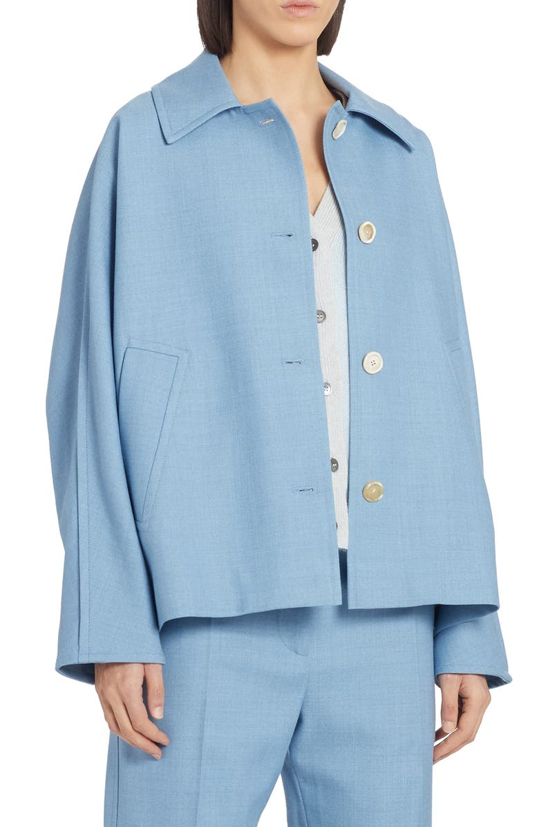 MARNI Wool Swing Jacket, Main, color, IRIS BLUE