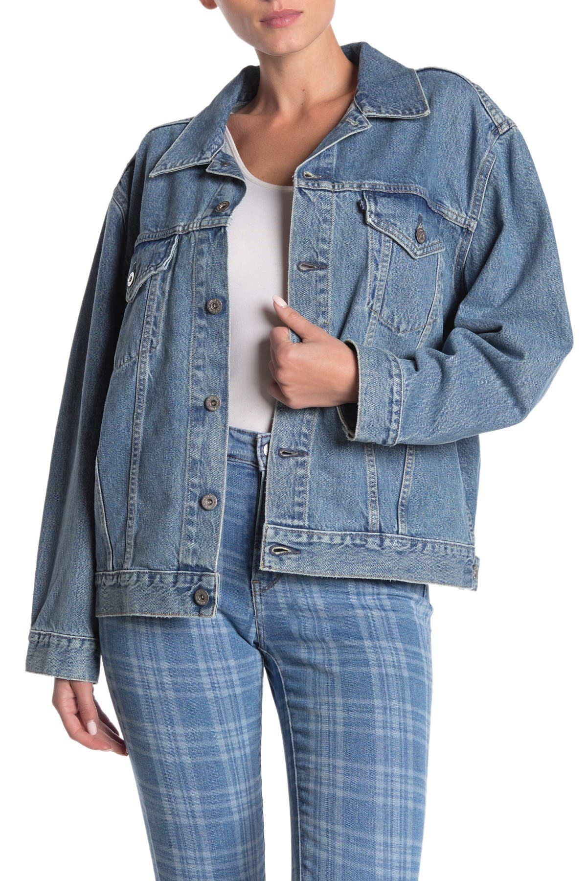 Image of Levi's Lily Oversized Denim Trucker Jacket