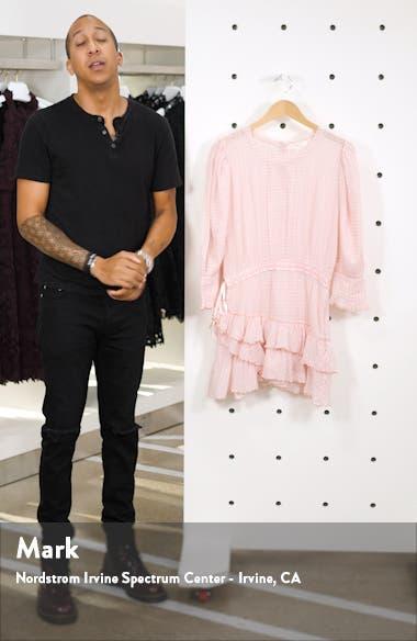 Lorelei Ruffle Detail Long Sleeve Cotton Minidress, sales video thumbnail