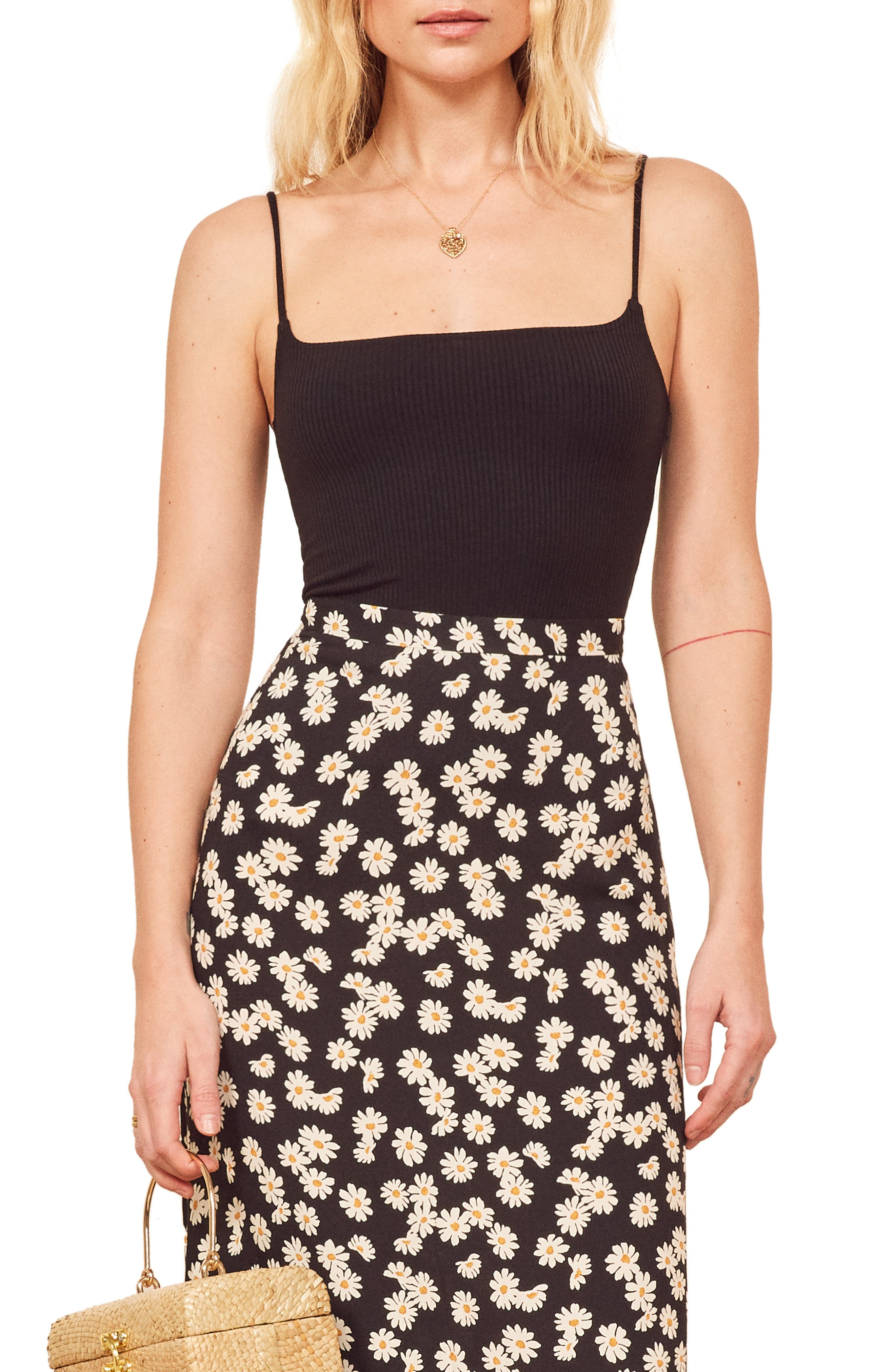 Reformation Carrie Camisole, Black