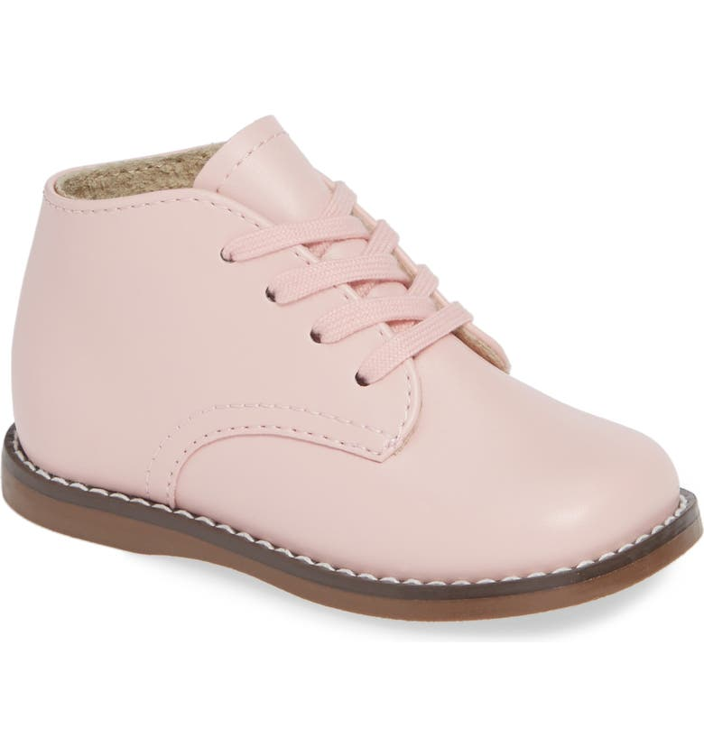 FOOTMATES Tina Lace-Up Bootie, Main, color, PINK