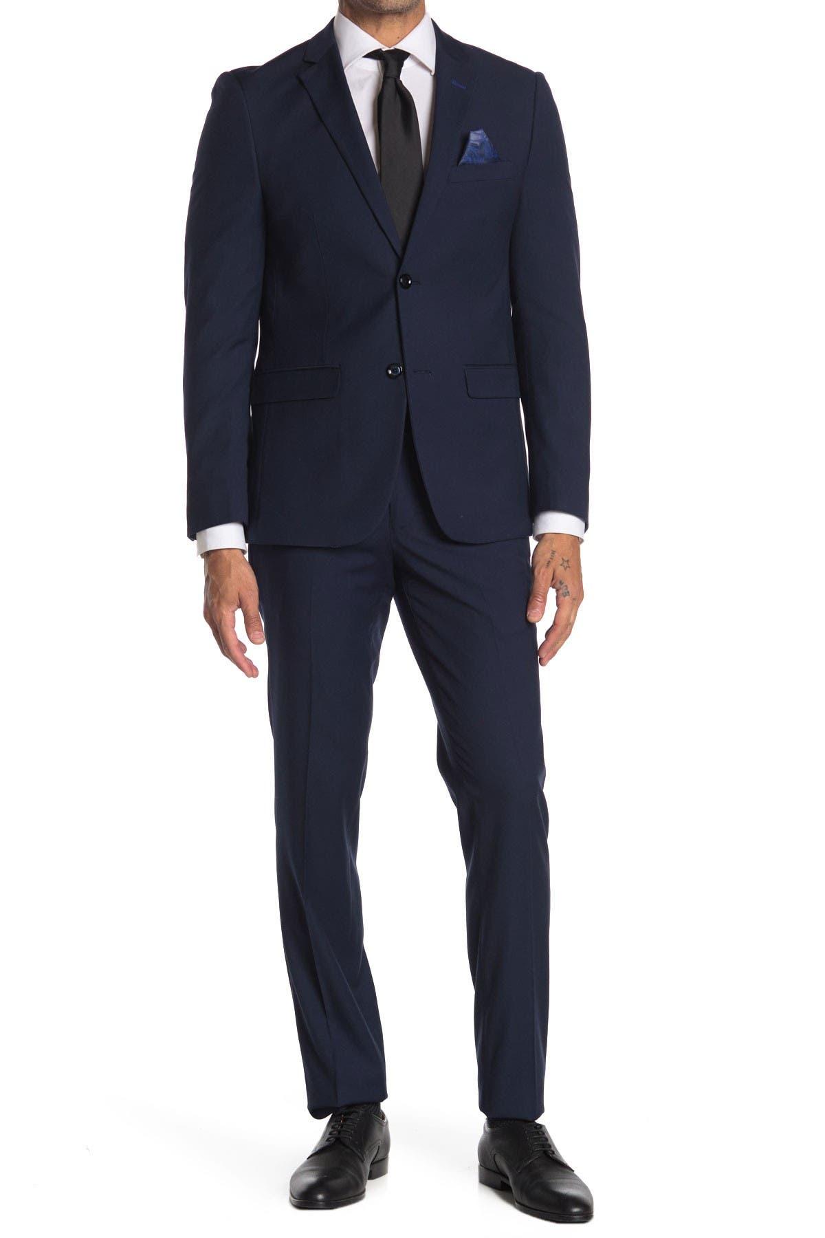 Image of SOUL OF LONDON Two Button Notch Lapel Slim Fit Suit