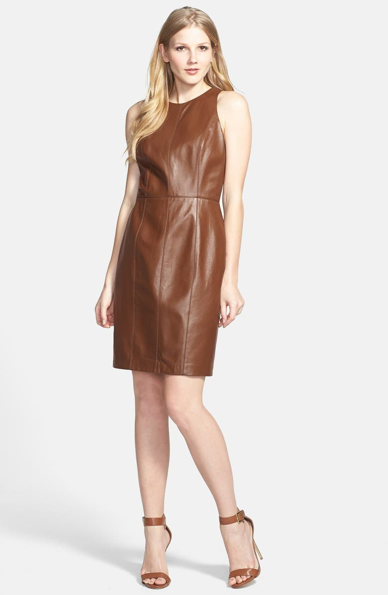 6909f276b7a Vince Camuto Sleeveless Leather Dress | Nordstrom