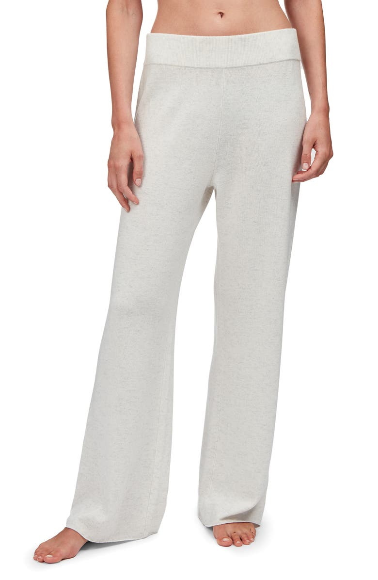 THE WHITE COMPANY Wide Leg Lounge Pants, Main, color, CLOUD
