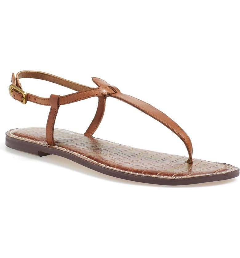 SAM EDELMAN Gigi Sandal, Main, color, SADDLE LEATHER