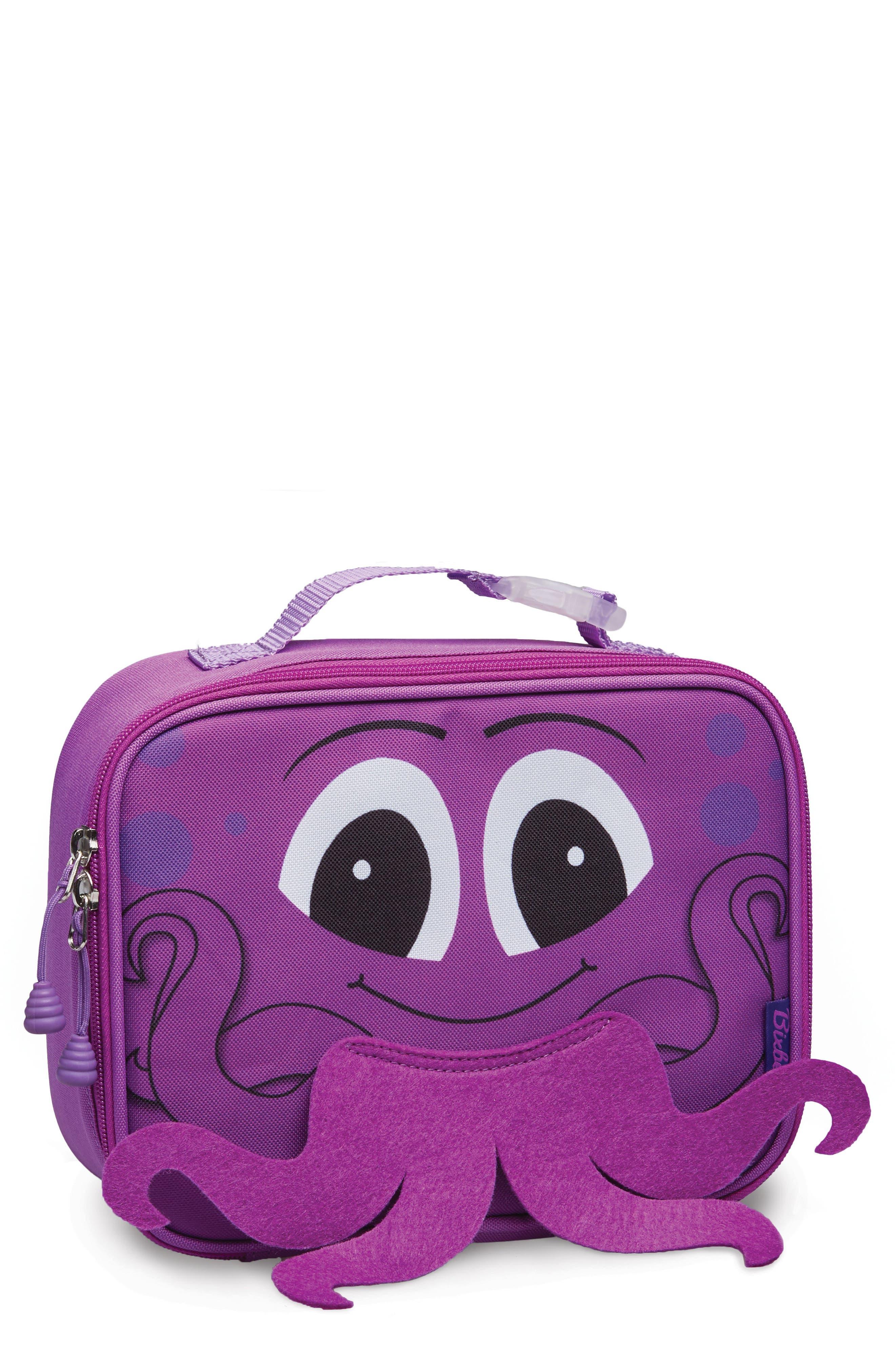 Girls Bixbee Octopus Water Resistant Lunchbox  Pink