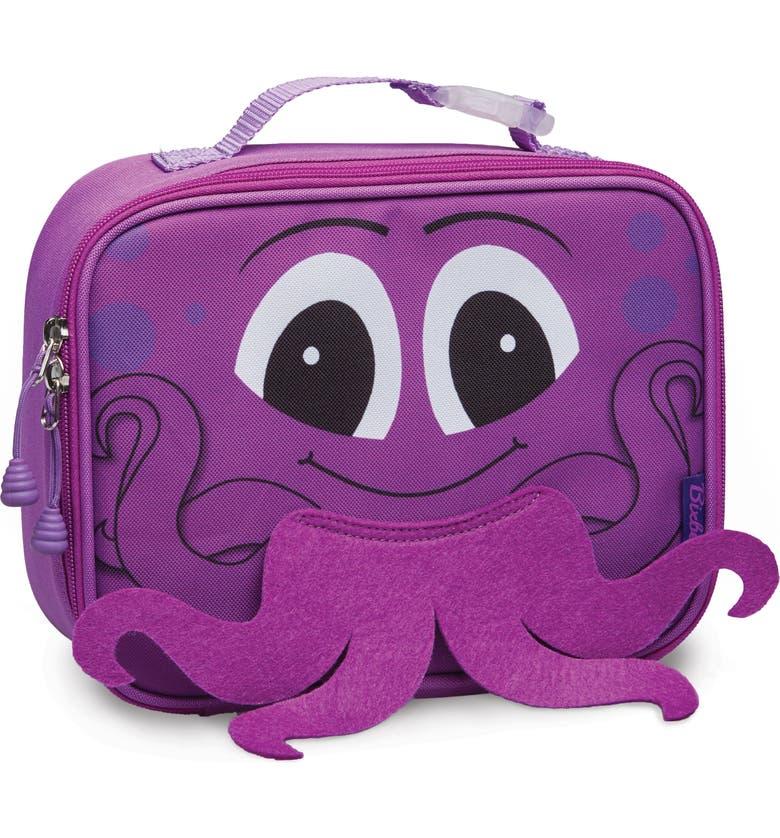 BIXBEE Octopus Water Resistant Lunchbox, Main, color, PINK