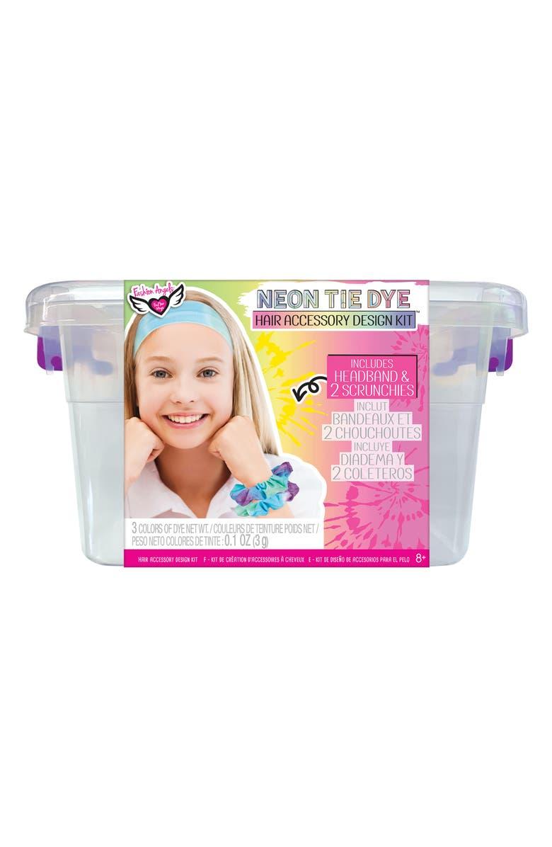 FASHION ANGELS Neon Tie Dye Hair Accessory Design Kit, Main, color, MULTI