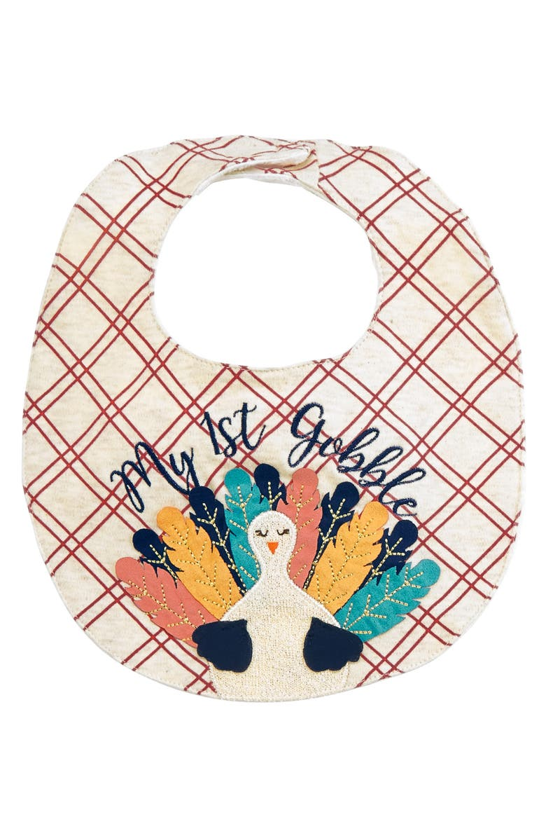 MUD PIE My First Gobble Bib, Main, color, 250