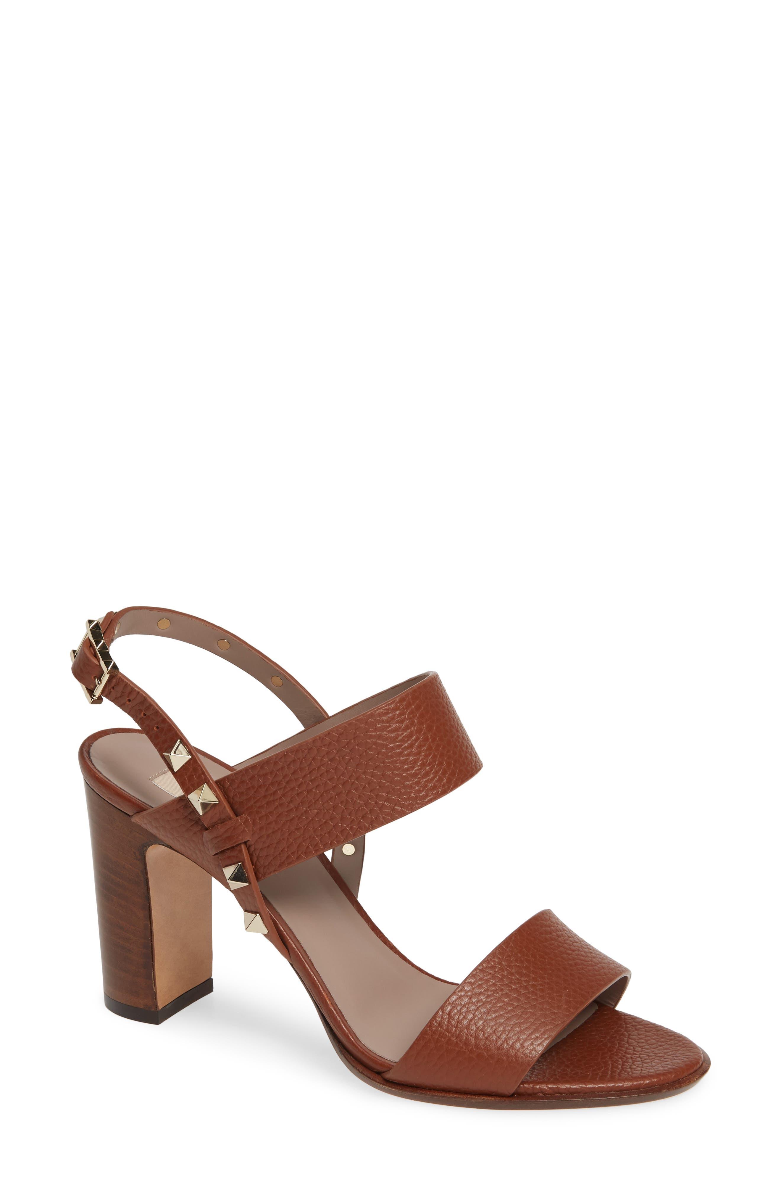 VALENTINO GARAVANI Rockstud Double Block Sandal (Women)