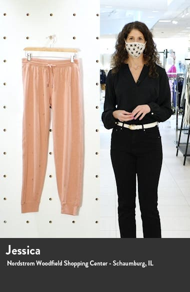Peace Embroidered Lounge Pants, sales video thumbnail