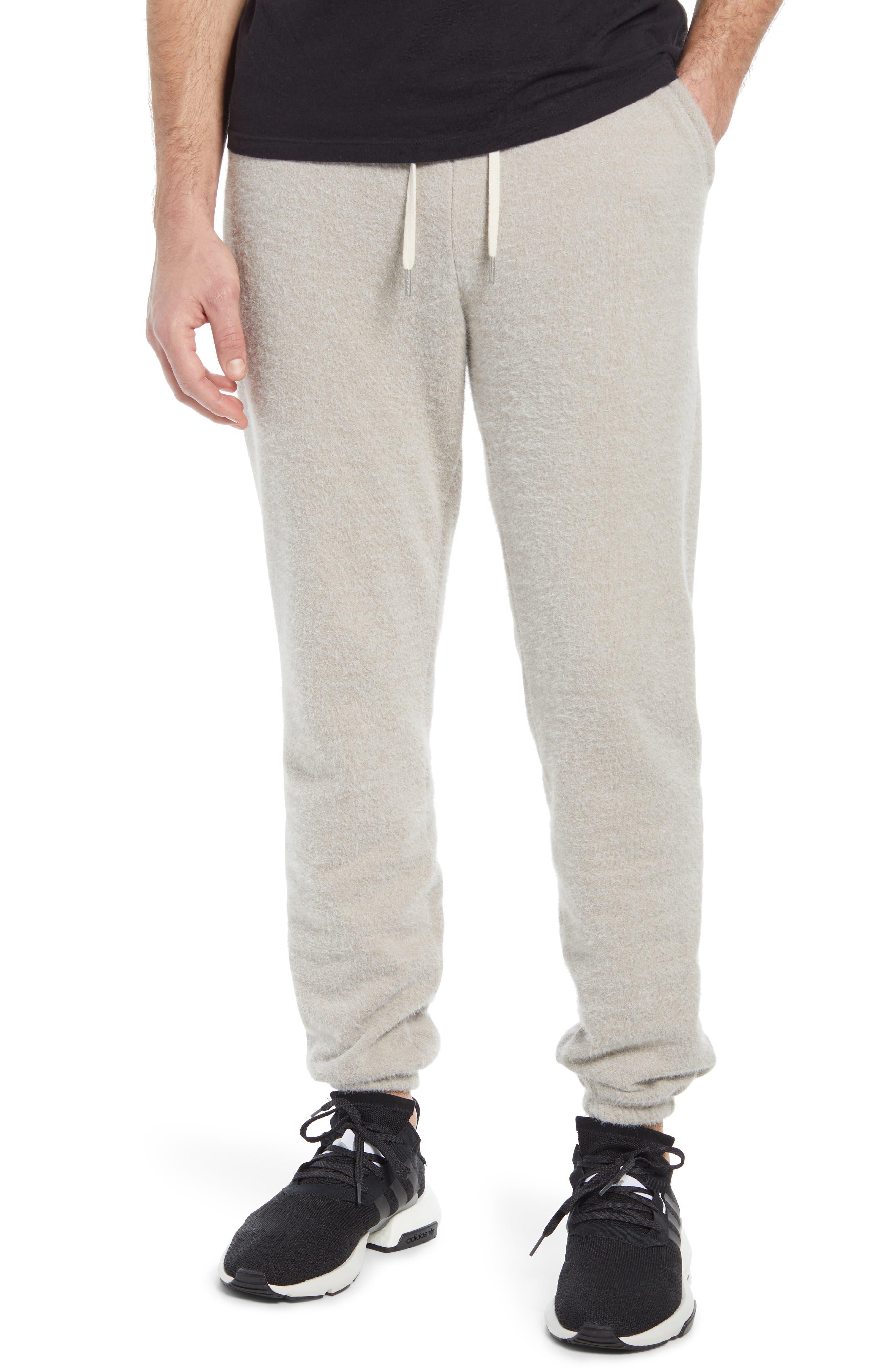 Men's John Elliott La Faux Fur Terry Sweatpants