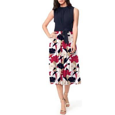 Leota Mindy Shirred Midi Dress, Ivory