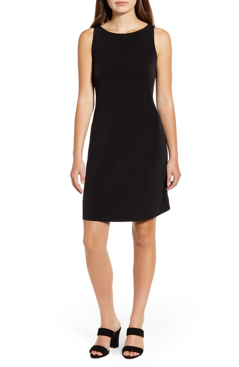 TOMMY BAHAMA Matte Jersey Sleeveless Dress, Main, color, BLACK