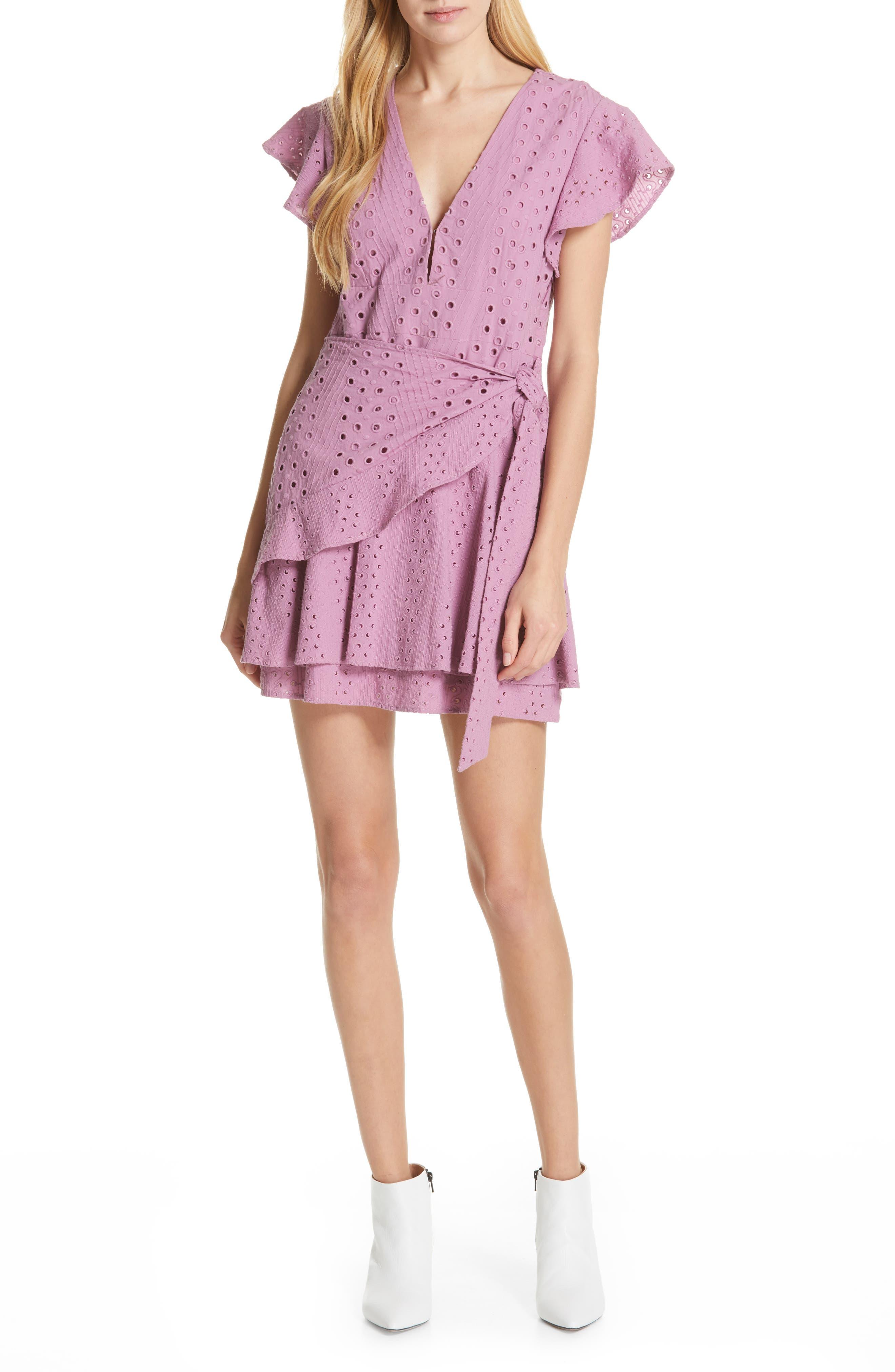 Dolan Patsy Eyelet Minidress, Pink