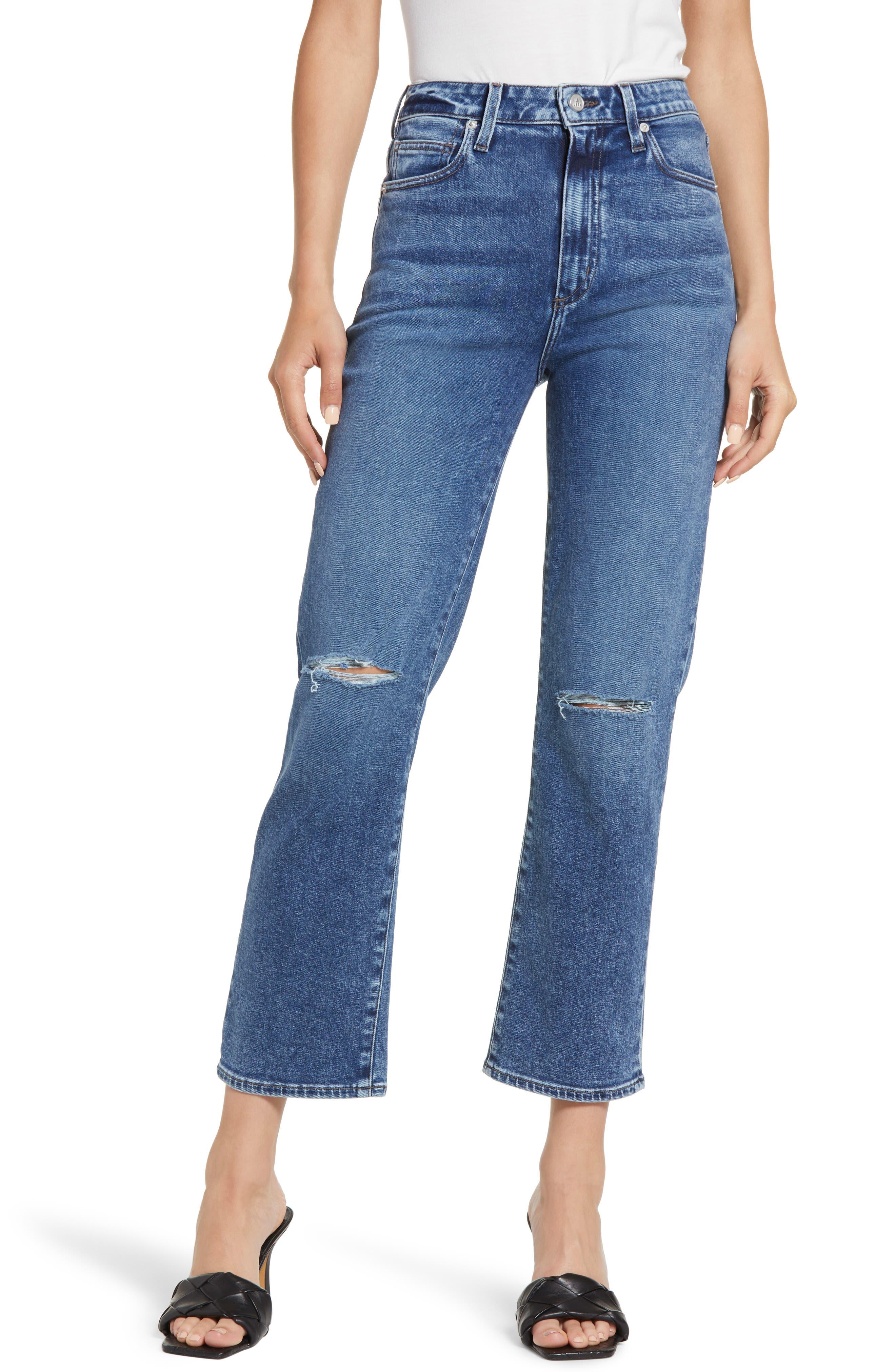 Sabine High Waist Ankle Straight Leg Jeans