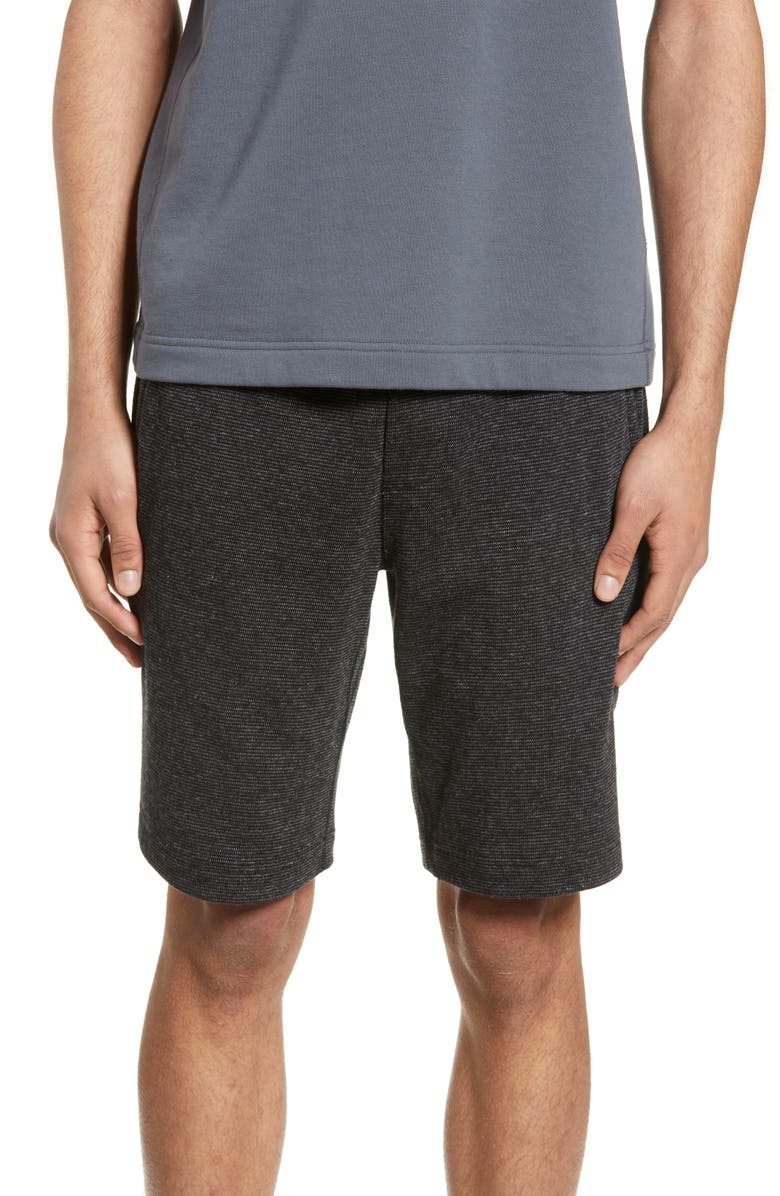 WINGS + HORNS Mixed Pile Athletic Shorts, Main, color, BLACK