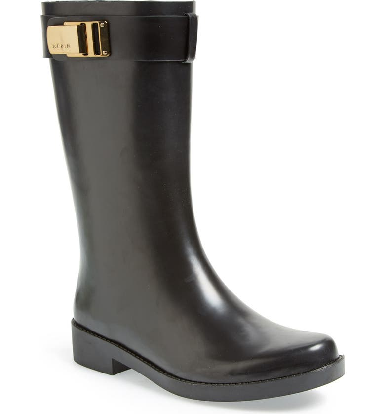AERIN 'Adera' Rain Boot, Main, color, 001